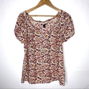 Lucky Brand Short Sleeves Top Size Large